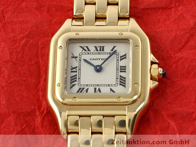 Used luxury watch Cartier Panthere 18 ct gold quartz Kal. 157.06  | 141083 14