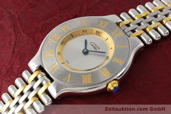 Used luxury watch Cartier Ligne 21 gilt steel quartz Kal. 690  | 141084 01