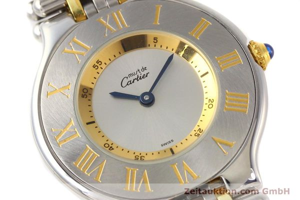 Used luxury watch Cartier Ligne 21 gilt steel quartz Kal. 690  | 141084 02
