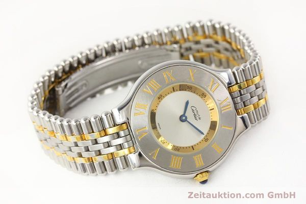 Used luxury watch Cartier Ligne 21 gilt steel quartz Kal. 690  | 141084 03