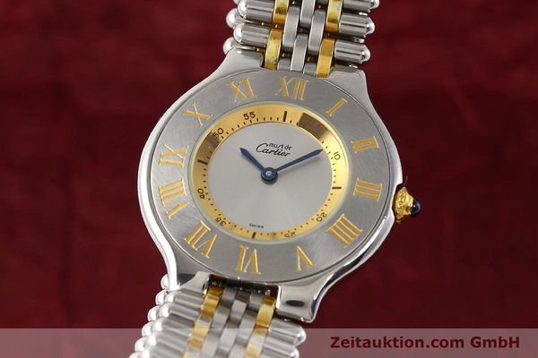 Used luxury watch Cartier Ligne 21 gilt steel quartz Kal. 690  | 141084 04