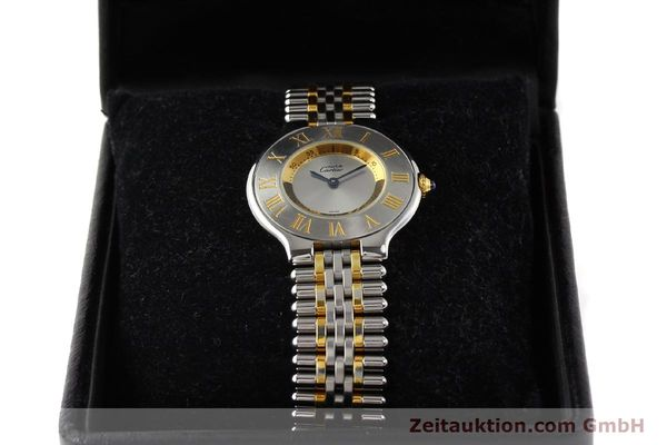Used luxury watch Cartier Ligne 21 gilt steel quartz Kal. 690  | 141084 07