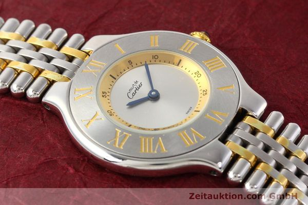 Used luxury watch Cartier Ligne 21 gilt steel quartz Kal. 690  | 141084 12