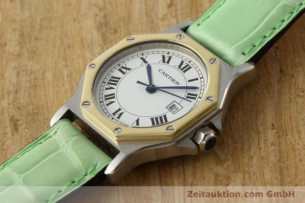Used luxury watch Cartier Santos steel / gold automatic Kal. ETA 2671  | 141097 01