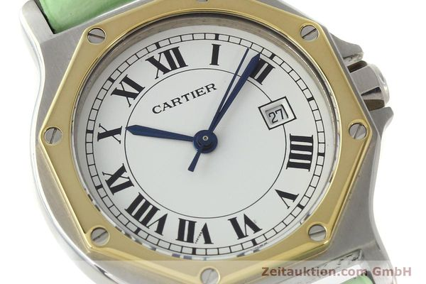 Used luxury watch Cartier Santos steel / gold automatic Kal. ETA 2671  | 141097 02
