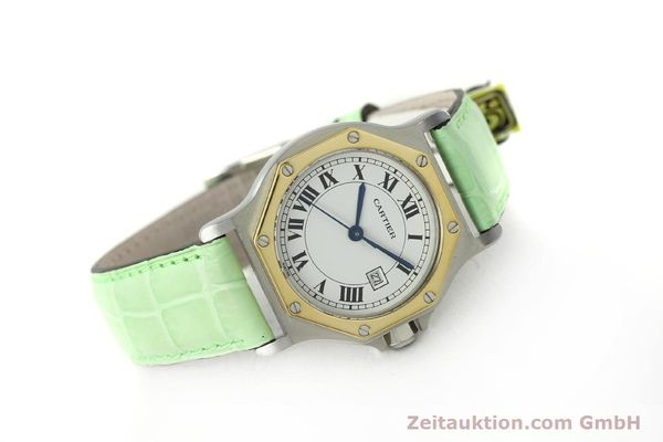 Used luxury watch Cartier Santos steel / gold automatic Kal. ETA 2671  | 141097 03