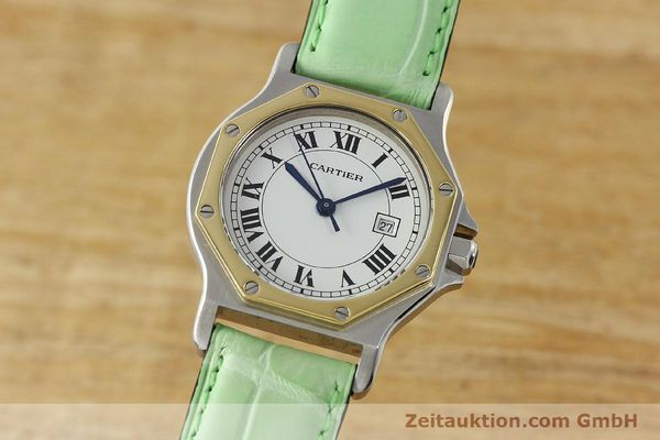 Used luxury watch Cartier Santos steel / gold automatic Kal. ETA 2671  | 141097 04