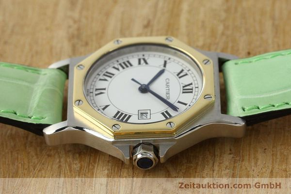 Used luxury watch Cartier Santos steel / gold automatic Kal. ETA 2671  | 141097 05