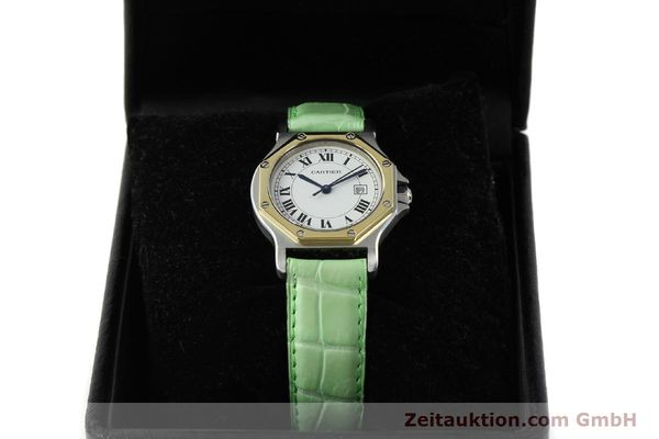 Used luxury watch Cartier Santos steel / gold automatic Kal. ETA 2671  | 141097 07
