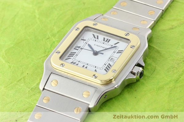Used luxury watch Cartier Santos steel / gold automatic  | 141108 01
