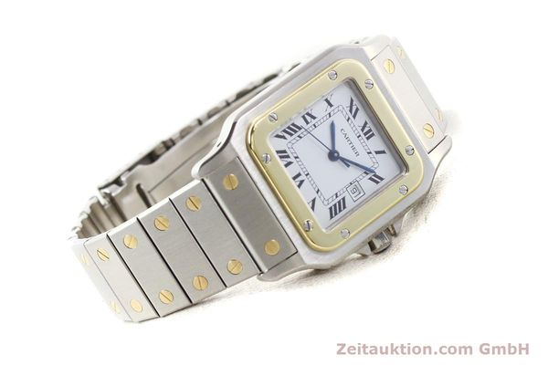 Used luxury watch Cartier Santos steel / gold automatic  | 141108 03