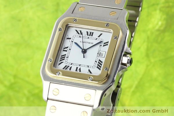 Used luxury watch Cartier Santos steel / gold automatic  | 141108 04
