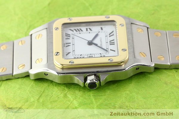 Used luxury watch Cartier Santos steel / gold automatic  | 141108 05