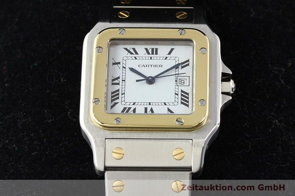 Used luxury watch Cartier Santos steel / gold automatic  | 141108 07