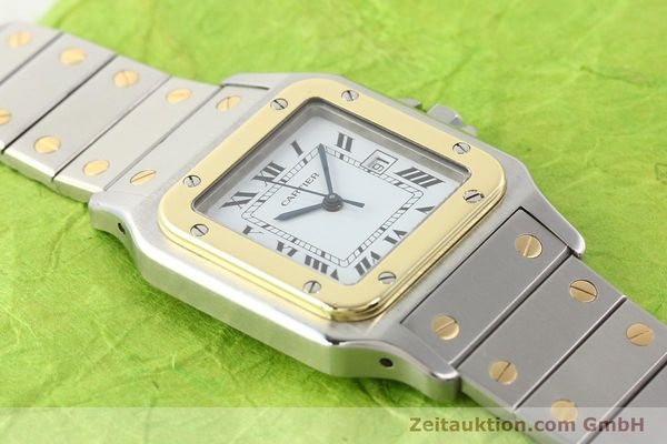 Used luxury watch Cartier Santos steel / gold automatic  | 141108 12