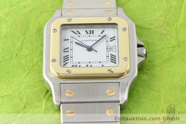 Used luxury watch Cartier Santos steel / gold automatic  | 141108 13