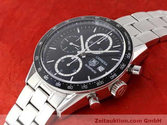 Used luxury watch Tag Heuer Carrera steel automatic Kal. 16 Ref. CV2010-3  | 141110 01