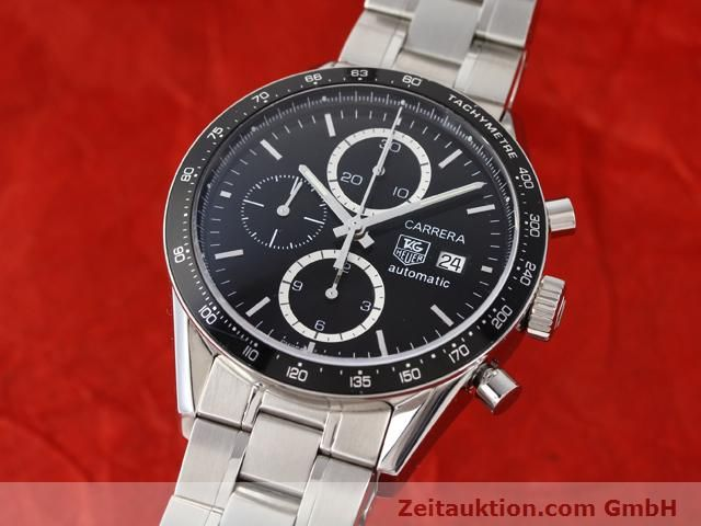 Used luxury watch Tag Heuer Carrera steel automatic Kal. 16 Ref. CV2010-3  | 141110 04