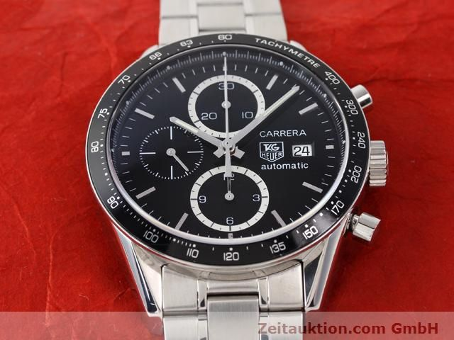 Used luxury watch Tag Heuer Carrera steel automatic Kal. 16 Ref. CV2010-3  | 141110 15
