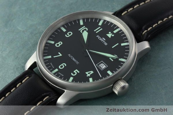Used luxury watch Fortis Flieger steel automatic Kal. ETA 2824-2 Ref. 595.10.46  | 141112 01