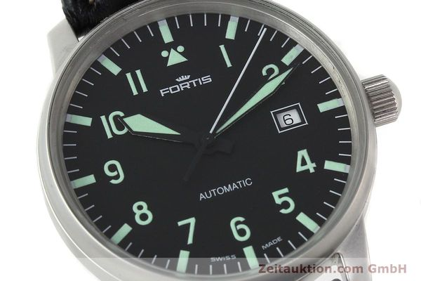 Used luxury watch Fortis Flieger steel automatic Kal. ETA 2824-2 Ref. 595.10.46  | 141112 02