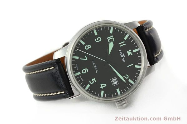 Used luxury watch Fortis Flieger steel automatic Kal. ETA 2824-2 Ref. 595.10.46  | 141112 03