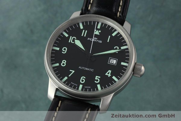 Used luxury watch Fortis Flieger steel automatic Kal. ETA 2824-2 Ref. 595.10.46  | 141112 04