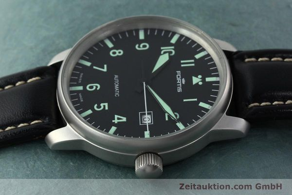 Used luxury watch Fortis Flieger steel automatic Kal. ETA 2824-2 Ref. 595.10.46  | 141112 05