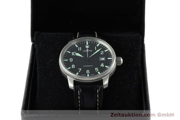 Used luxury watch Fortis Flieger steel automatic Kal. ETA 2824-2 Ref. 595.10.46  | 141112 07