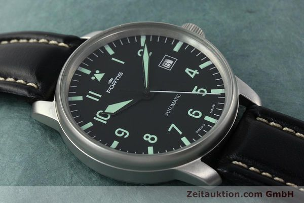 Used luxury watch Fortis Flieger steel automatic Kal. ETA 2824-2 Ref. 595.10.46  | 141112 13