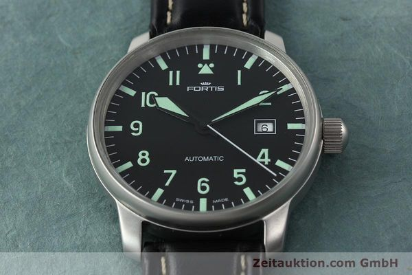 Used luxury watch Fortis Flieger steel automatic Kal. ETA 2824-2 Ref. 595.10.46  | 141112 14