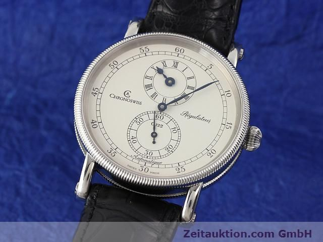 Used luxury watch Chronoswiss Regulateur steel automatic Kal. C122 Ref. CH1223  | 141113 04