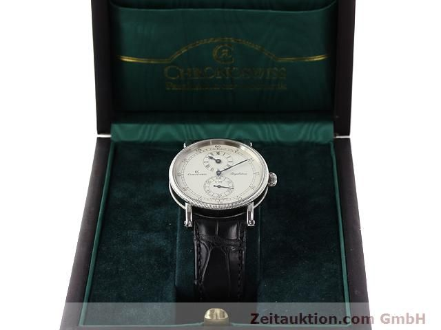 Used luxury watch Chronoswiss Regulateur steel automatic Kal. C122 Ref. CH1223  | 141113 07