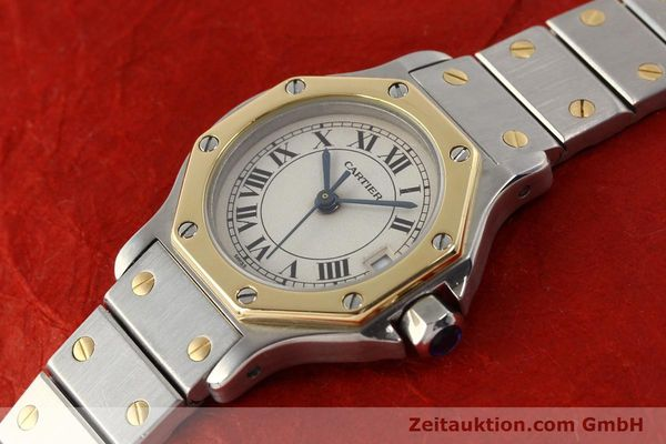 Used luxury watch Cartier Santos steel / gold quartz  | 141119 01