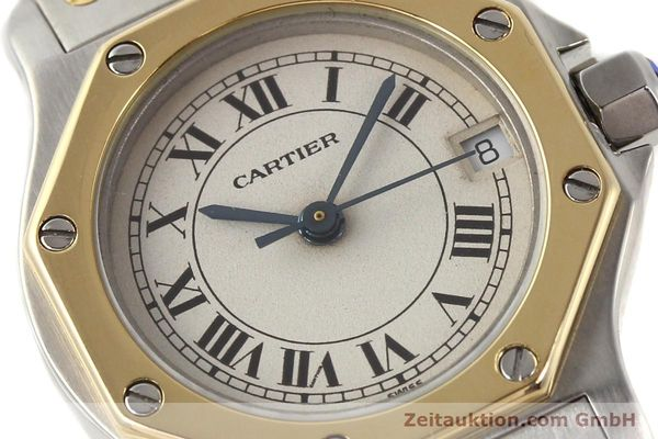Used luxury watch Cartier Santos steel / gold quartz  | 141119 02