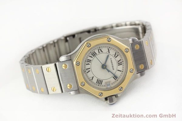 Used luxury watch Cartier Santos steel / gold quartz  | 141119 03