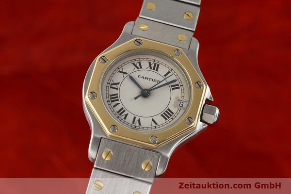 Used luxury watch Cartier Santos steel / gold quartz  | 141119 04