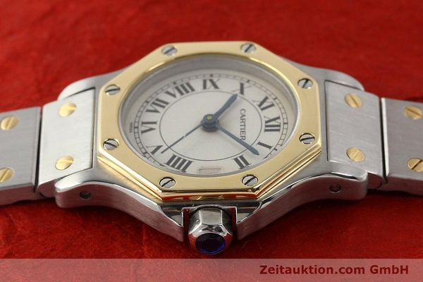 Used luxury watch Cartier Santos steel / gold quartz  | 141119 05