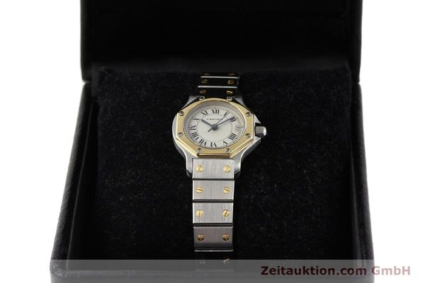 Used luxury watch Cartier Santos steel / gold quartz  | 141119 07