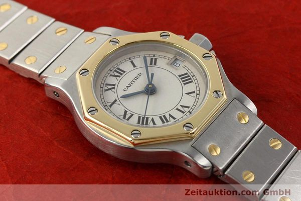 Used luxury watch Cartier Santos steel / gold quartz  | 141119 13