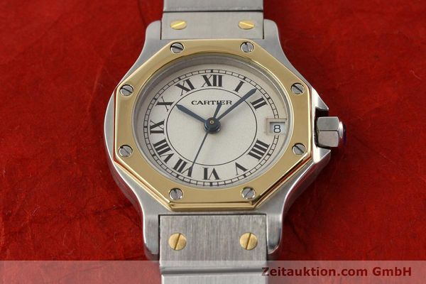 Used luxury watch Cartier Santos steel / gold quartz  | 141119 14