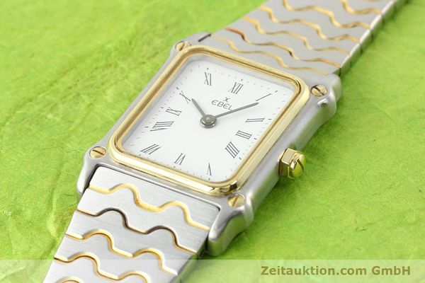 Used luxury watch Ebel Classic Wave steel / gold quartz Ref. 166914  | 141120 01