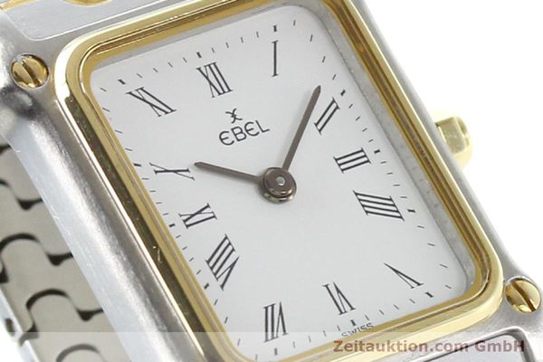 Used luxury watch Ebel Classic Wave steel / gold quartz Ref. 166914  | 141120 02
