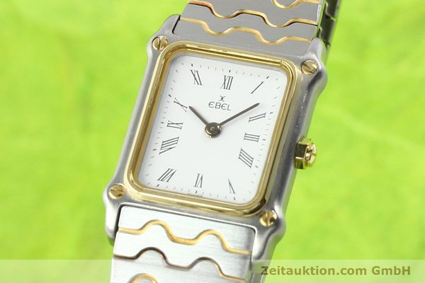 Used luxury watch Ebel Classic Wave steel / gold quartz Ref. 166914  | 141120 04
