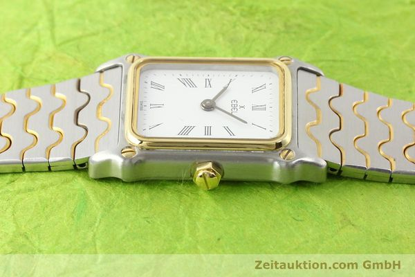 Used luxury watch Ebel Classic Wave steel / gold quartz Ref. 166914  | 141120 05