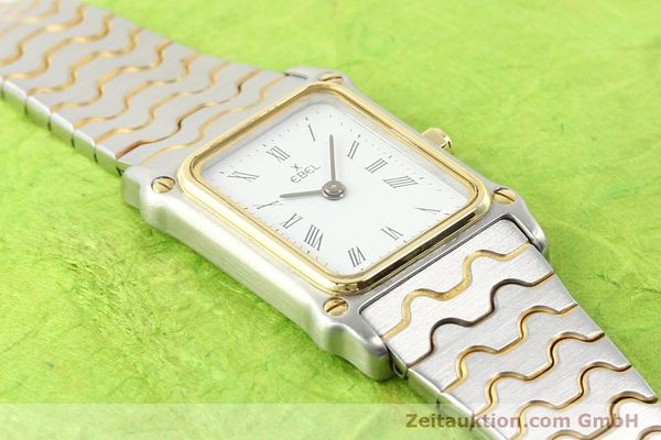 Used luxury watch Ebel Classic Wave steel / gold quartz Ref. 166914  | 141120 12