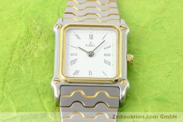 Used luxury watch Ebel Classic Wave steel / gold quartz Ref. 166914  | 141120 13