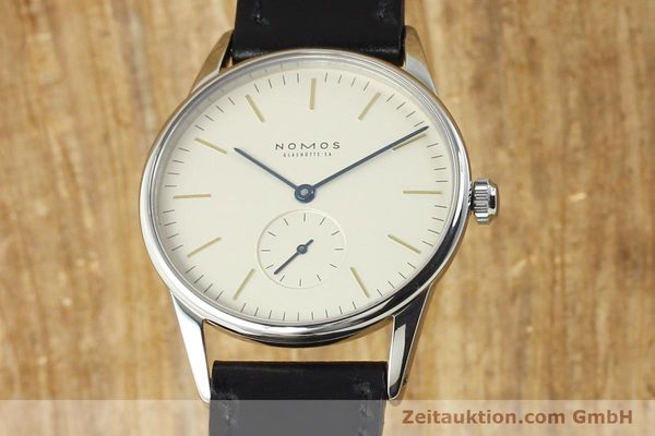 Used luxury watch Nomos Orion steel manual winding Kal. ETA 7001  | 141121 04