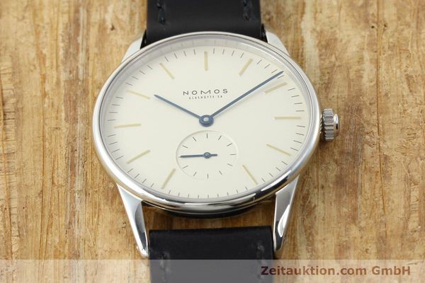 Used luxury watch Nomos Orion steel manual winding Kal. ETA 7001  | 141121 17