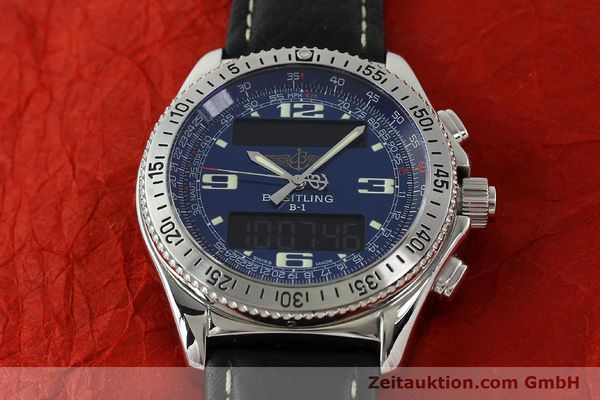 Used luxury watch Breitling B1 chronograph steel quartz Ref. A68362  | 141125 12
